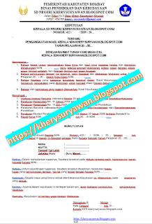 File Pendidikan Contoh SK Wakil Kepala Sekolah SD Terbaru