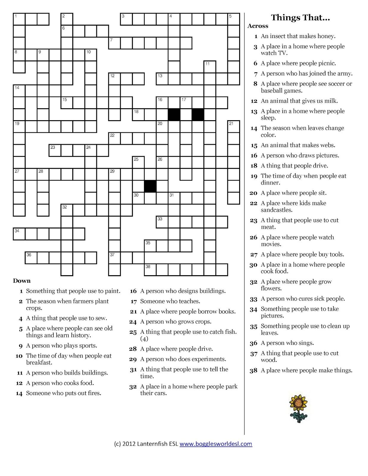 Grado 11 1 Relative Clauses Crossword Puzzle