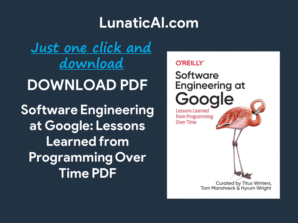 Software Engineering at Google PDF