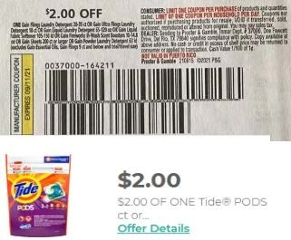 tide gain cvs coupons