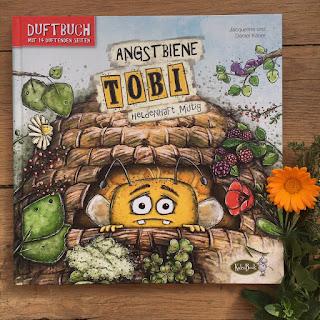 Titel: Angstbiene Tobi - Heldenhaft mutig Autor: Jaqueline und Daniel Kauer Illustrationen: Jaqueline Kauer Verlag: KaleaBook