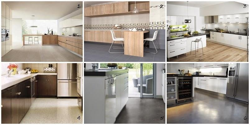 I d e a tipos de suelo para las cocinas for Suelo cocina gris antracita