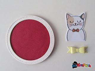elementi decorazione tag con gattino