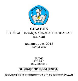 Silabus PJOK Kelas 6 SD/MI Semester 1 K13 Revisi 2021