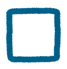 チェックボックス(未チェック)のイラスト