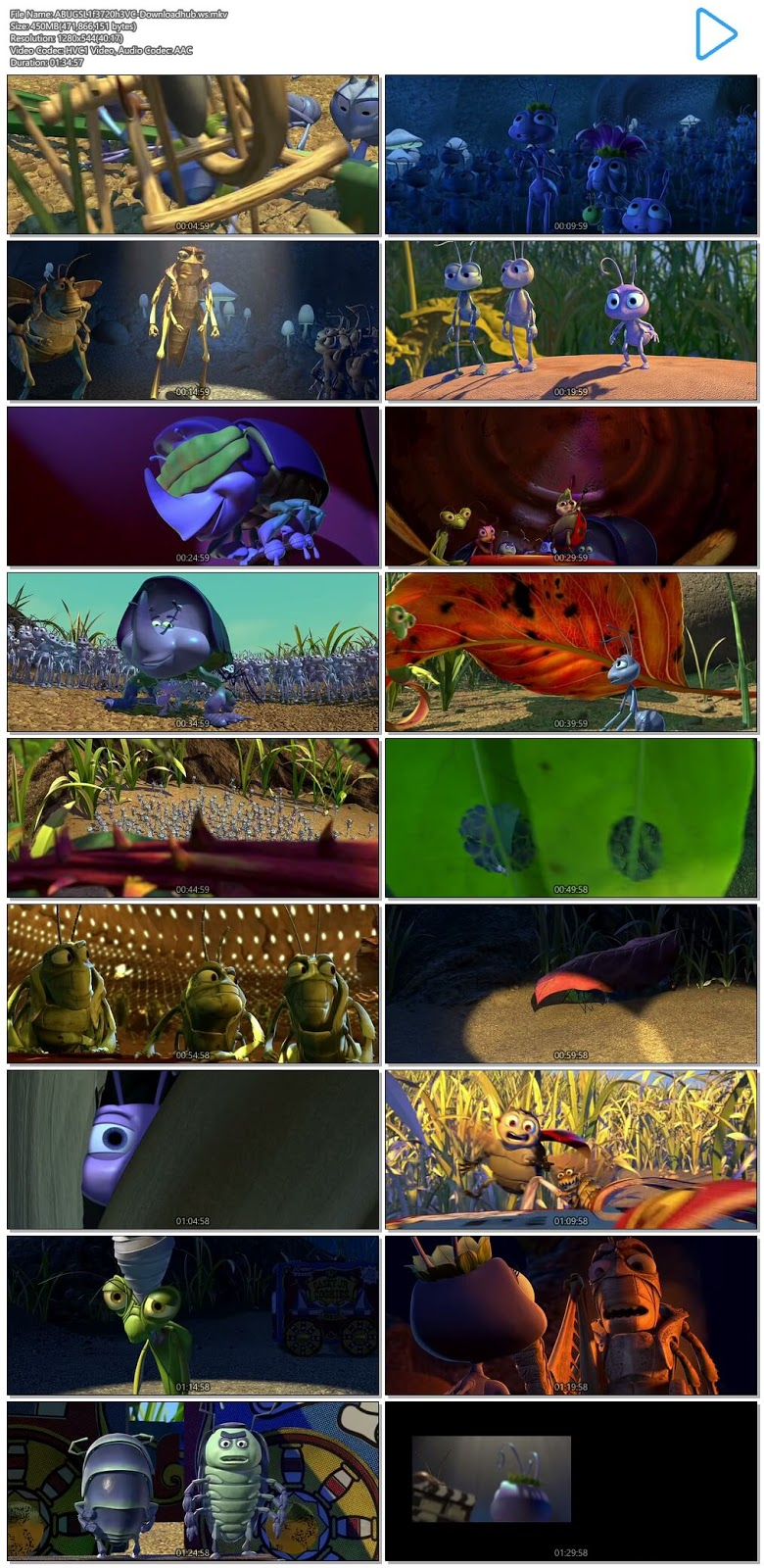 A Bug's Life 1998 Hindi Dual Audio 720p HEVC BluRay Free Download