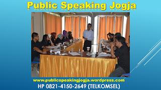 Training Public SPeaking Yogyakarta