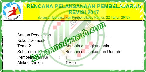 Download Rpp Tematik Kelas 3 Kurikulum 2013 Edisi Revisi 2018