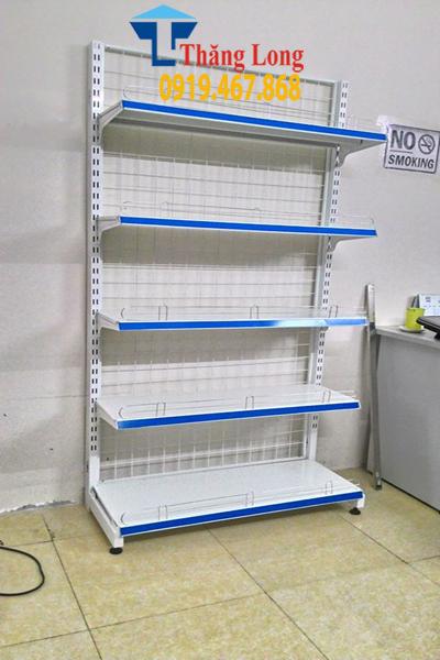 Kệ đơn siêu thị D900 x C1800 x R350 mm