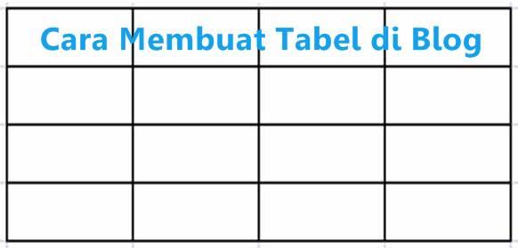 cara membuat tabel pada blog