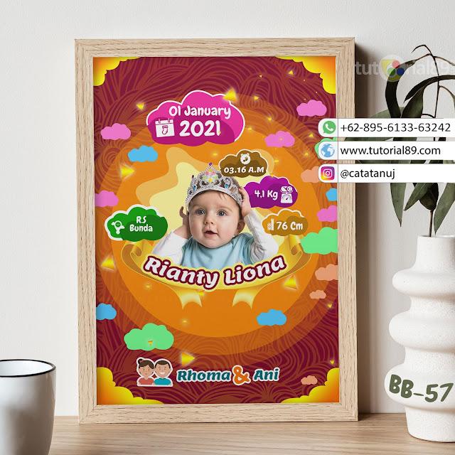 Biodata Bayi Costume Unik Kode BB57 | Circle Ungu