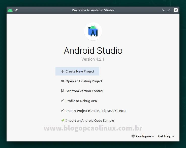 Android Studio executando no openSUSE Leap 15.3