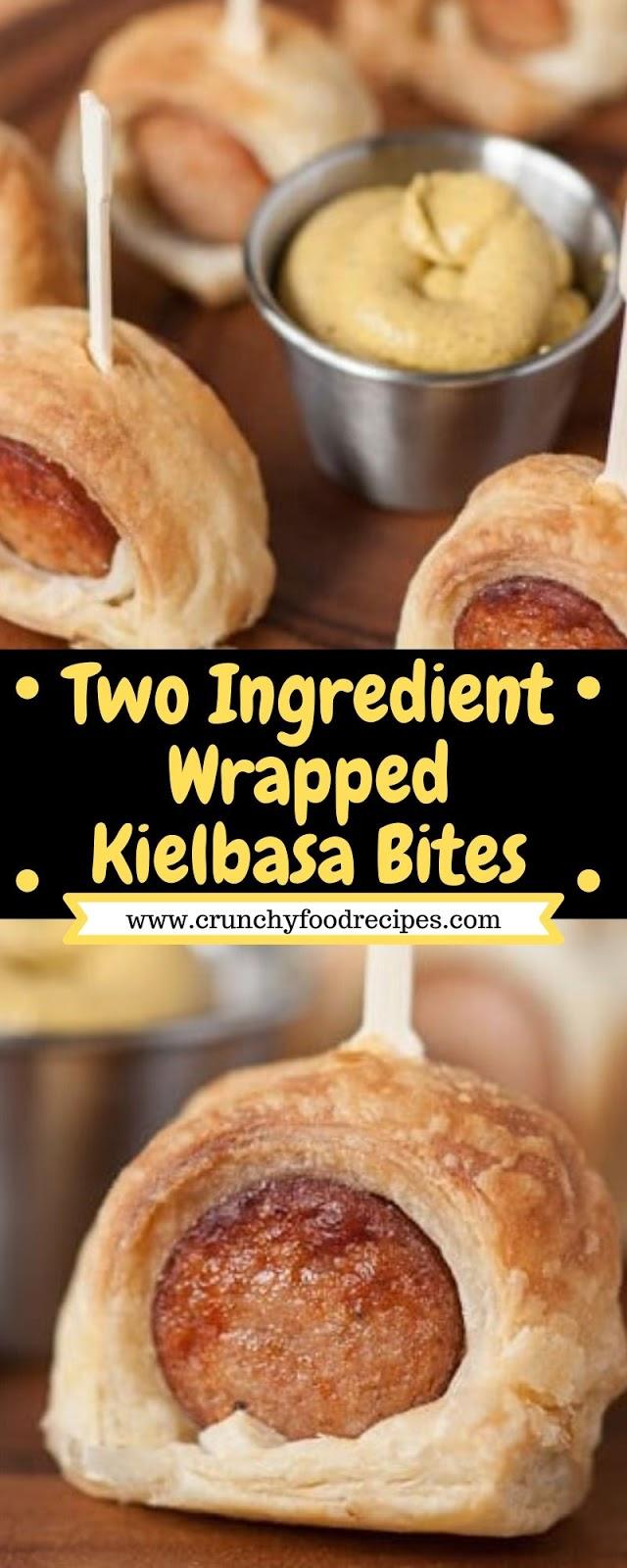 Two Ingredient Wrapped Kielbasa Bites