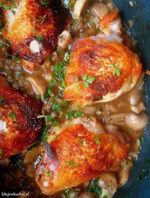 Kurczak w sosie pieczarkowym/ Chicken with Mushroom Gravy