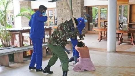 Police who descend on Mlango Kubwa MCA Patricia Mutheu