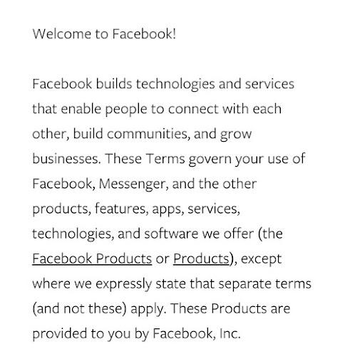 تحديث سياسات الفيسبوك