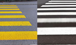 Yellow Cross Line