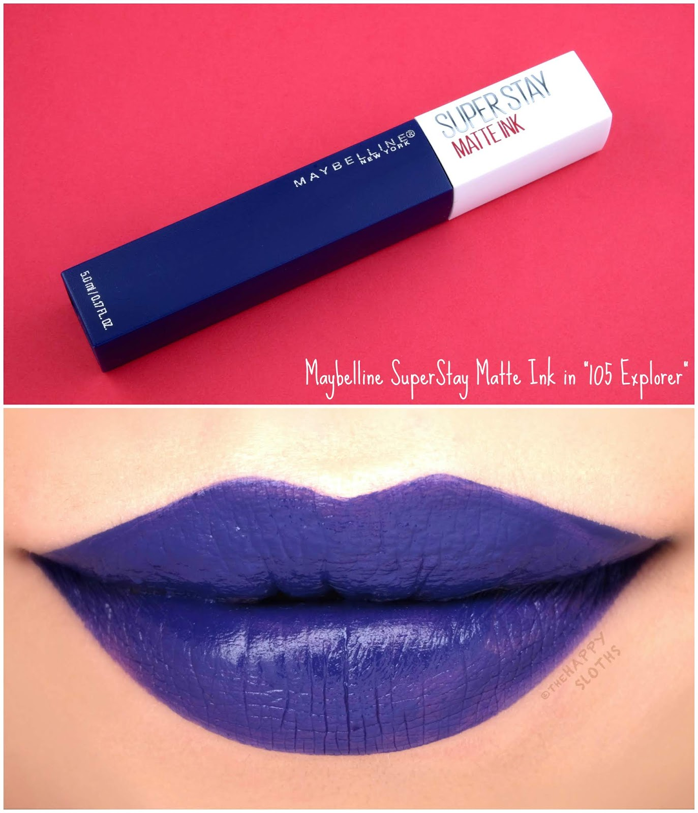 "Maybelline | SuperStay Matte Ink City Edition in ""105 Explorer"": Review and Swatches"
