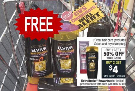 FREE L'Oreal Shampoo CVS Deal 4/12-4/18