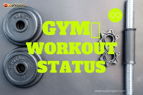 30+ Best motivational gym🏋️workout status in hindi & english