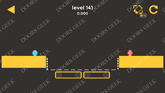 Ball & Ball Level 141 Solution, Walkthrough, Cheats for android and ios