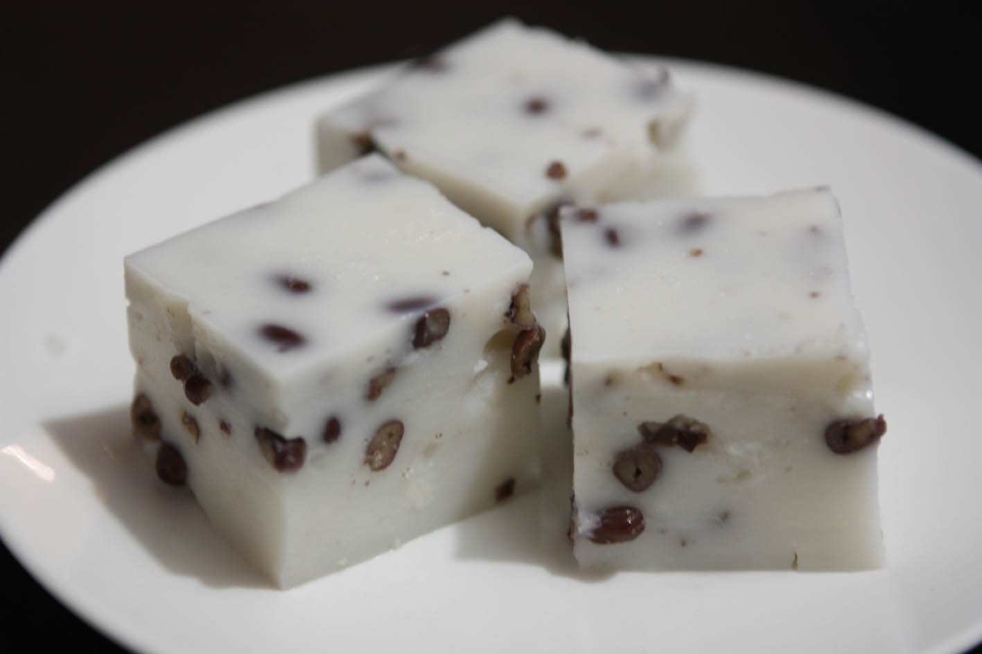 bean coconut dessert recipe sUgArcrUnch: Coconut Red Bean Pudding (椰汁紅豆糕)