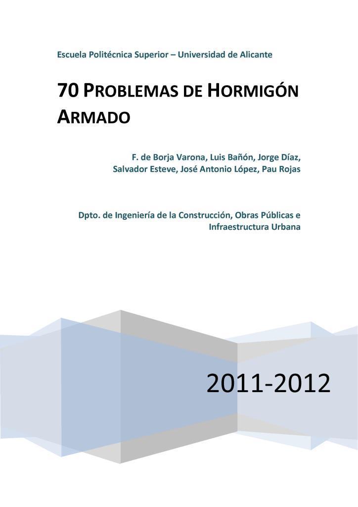 70 problemas de hormigón armado