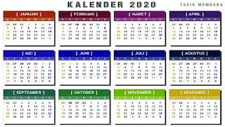 Kalender 2020 Lengkap Dengan Hari Libur Nasional