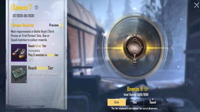 PUBG Lite New Update Season 8 Tier Reset fixed