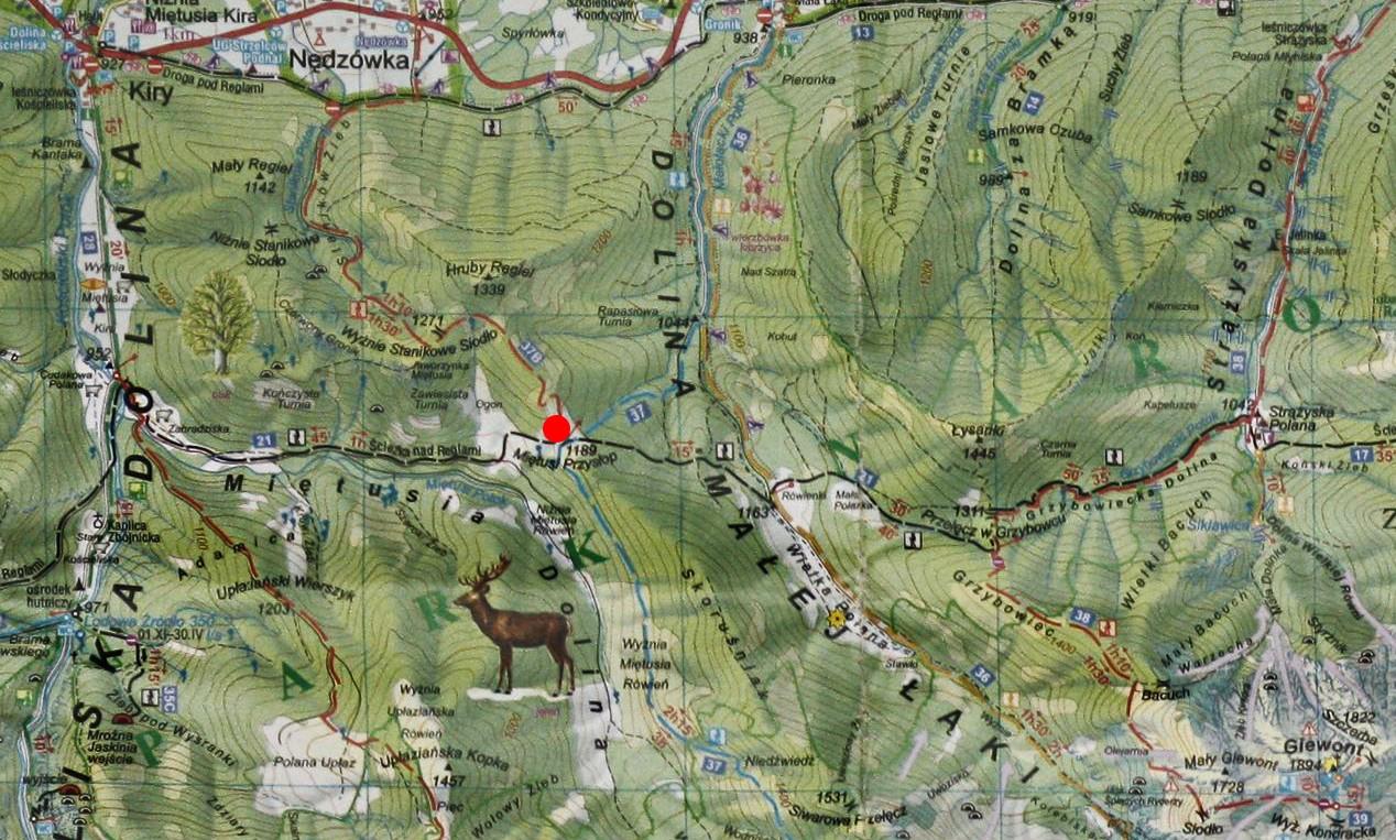 Przysłop Miętusi na mapie