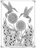 printable bird art therapy coloring pages