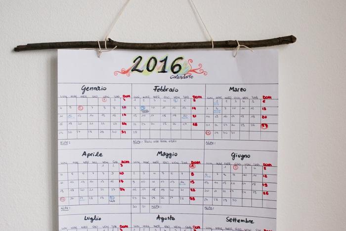 calendar diy hanging branch francinesplaceblog