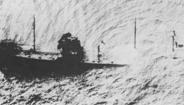 US tanker Gulfamerica sinking on 11 April 1942 worldwartwo.filminepctor.com