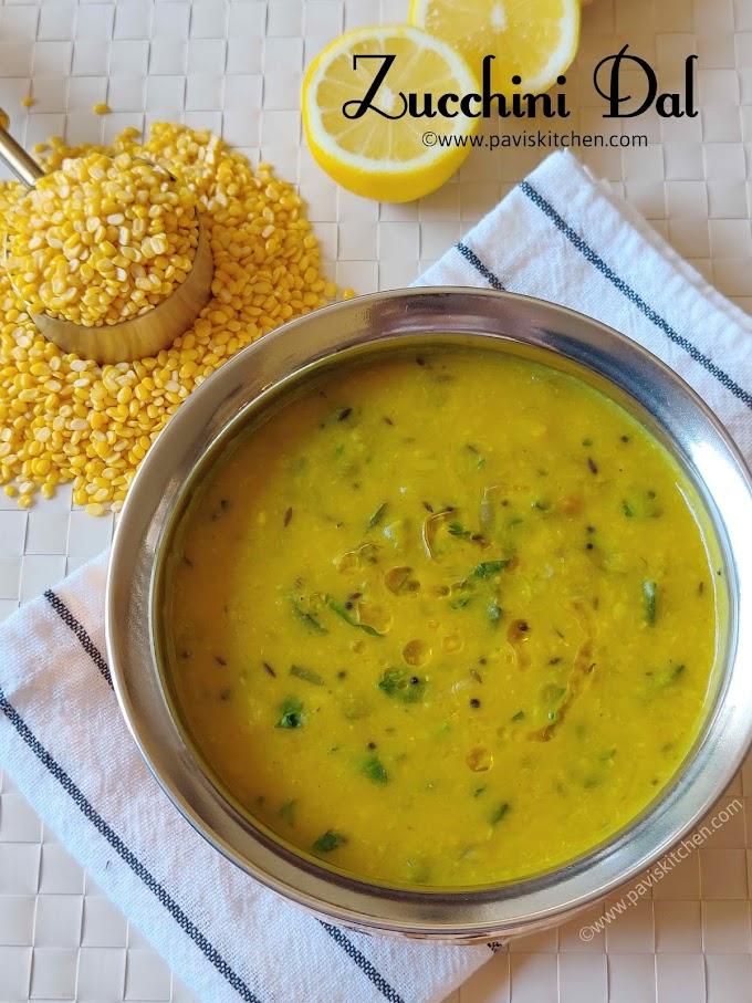 Zucchini dal recipe | Indian zucchini kootu | zucchini lentil curry