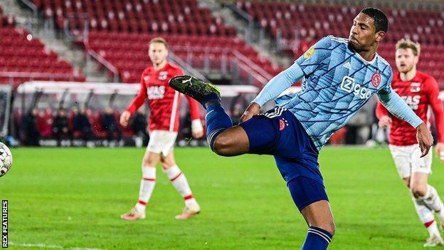 Ajax striker Seb Haller