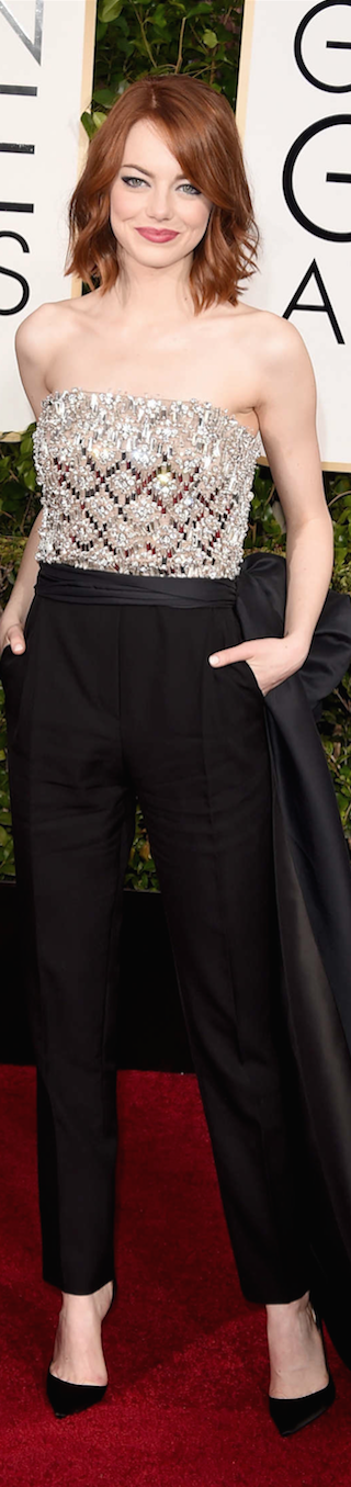 Emma Stone 2015 Golden Globe Awards