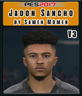 PES 2017 Faces Jadon Sancho by Sameh Momen