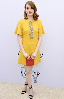 Emma Stone Yellow Dress, Women In Entertainment Breakfast
