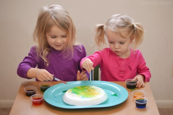 How to Make an Ice VOLCANO- fun Science kids love!
