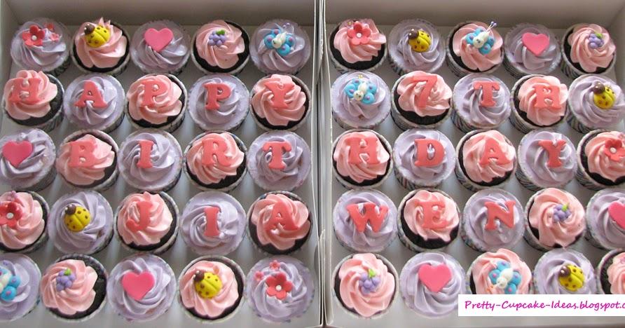 Pretty Cupcake Ideas Happy 7th Birthday Cupcakes