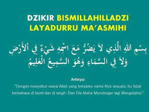Lirik Bismillahilladzi La Yadurru Ma'asmihi - Tulisan Arab dan Artinya