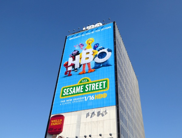 Giant Sesame Street HBO launch billboard