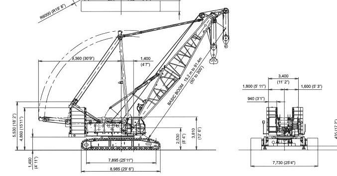 craneinfo.ru: Kobelco Crawler Crane CK2500-II / CKE2500-II