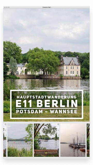 Europäischer Fernwanderweg E11  Hauptstadtwanderung Berlin  Etappe von Potsdam zum Nikolassee am Wannsee  Wandern in Berlin-Brandenburg  Tourenplanung mit GPS-Track 22