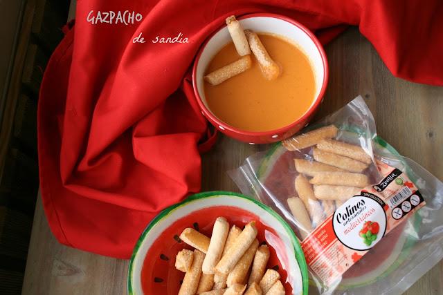Gazpacho de sandía,sin gluten