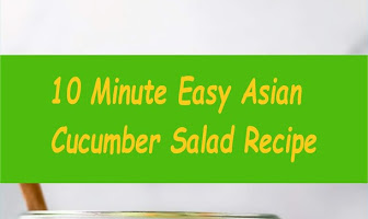 10 Minute Easy Asian Cucumber Salad Recipe