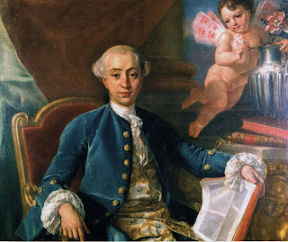 A portrait of Girolamo Casanova painted in 1760 by the German artist Anton Raphael Mengs