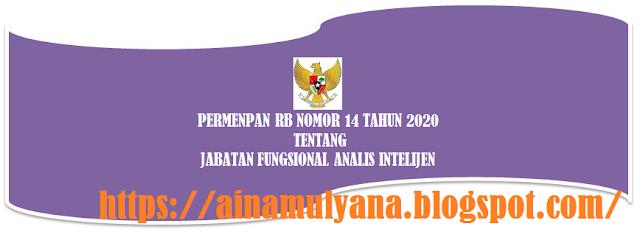 Peraturan Menpan RB atau Permenpan RB Nomor 14 Tahun 2020 Tentang Jabatan Fungsional Analis Intelijen