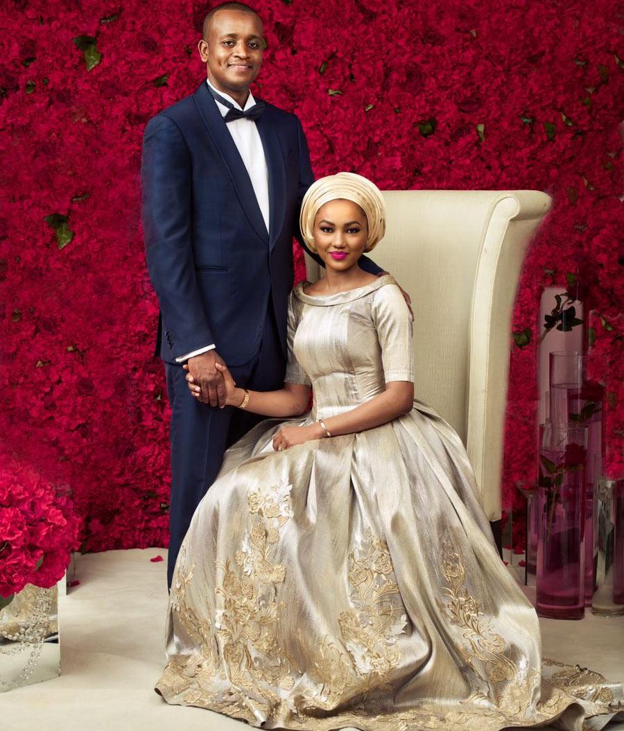 Aisha Buhari announces Zahra Buhari and Ahmed Indimi's wedding