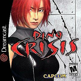 Dino Crisis Sega Dreamcast horror game cover art